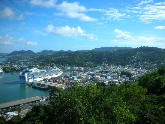 View of Castries